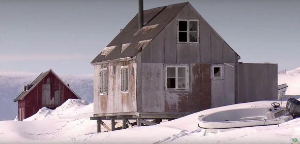 Die Inuit kennen auch Häuser