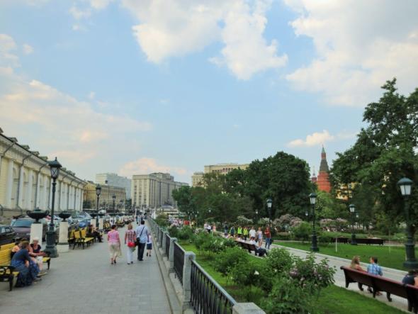 Alexandergarten vor den Toren des Kreml