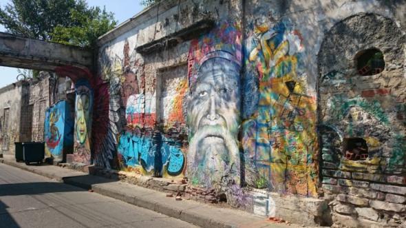 Streetart in Cartagenas Stadtviertel Getsemani