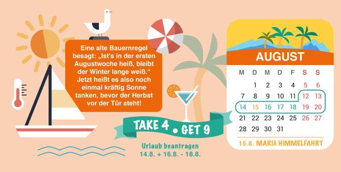 Brückentage 2017 Urlaub August