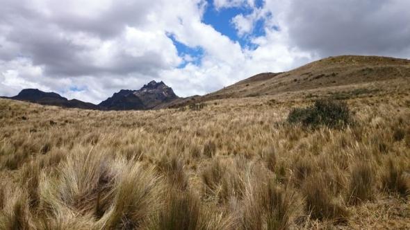 Aussicht auf die zweite Vulkanspitze des Pichincha auf über 5.000 Höhenmetern